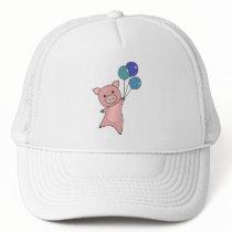 Pig Piglet Balloons Flies Cute Animals Trucker Hat