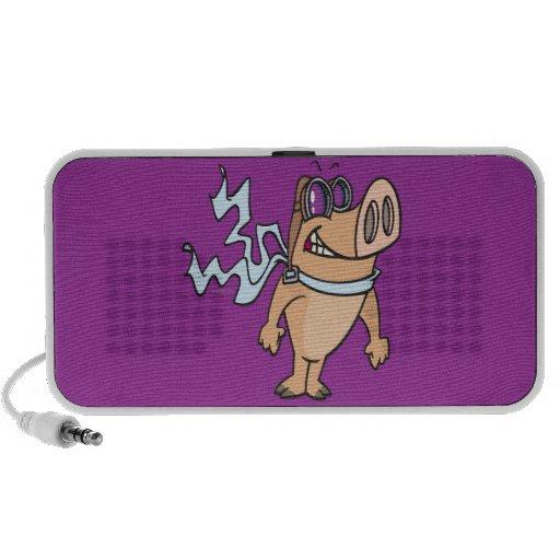 pig pilot cartoon portable speakers