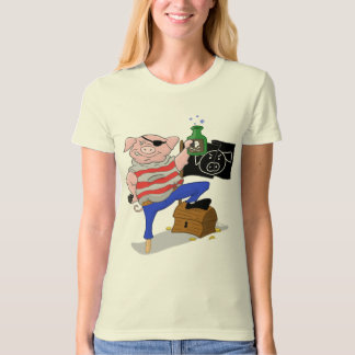 Pig Pirate Captain Aham Women's Tee