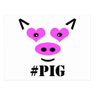 #Pig Postcard