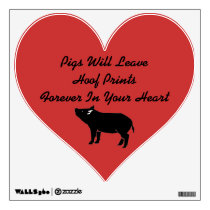 Pig Prints In The Heart Wall Decal