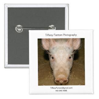 Pig Promo Piece Pinback Button