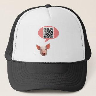 Pig QR Code Trucker Hat
