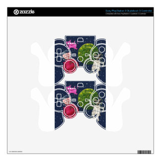 Pig, Raccoon and Pink Elephant PS3 Controller Skin