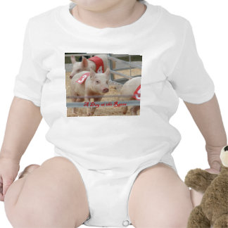 Pig racing, Pig race photograph, pink pig Rompers