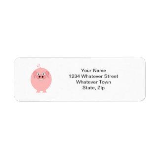 Pig Return Address Label