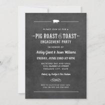 Pig Roast and Toast Chalkboard Wedding Engagement Invitation