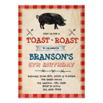 Pig roast and toast party invitation