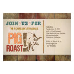 Pig roast barbecue party invitations