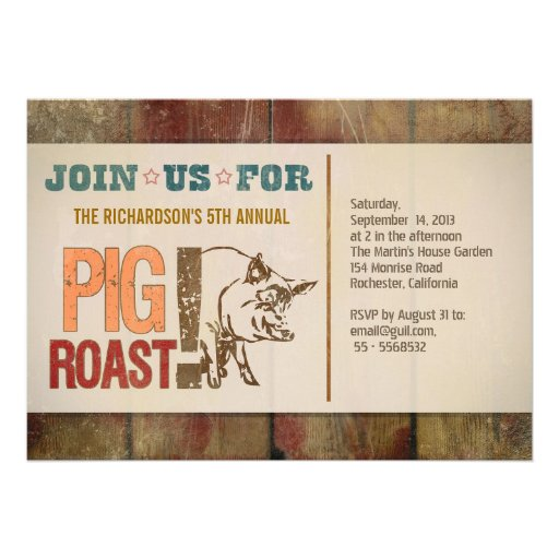 Pig Roast Invitation Template is good invitations template