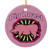 Pig Roast Christmas Tree Ceramic Ornament