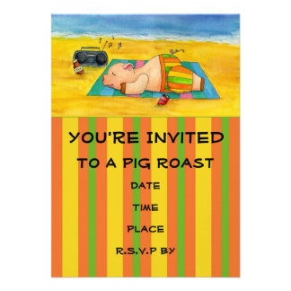 Pig Roast Invitation