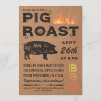 Pig Roast Invitations | BBQ Butcher Paper