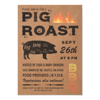 Pig Roast Invitations | BBQ Butcher Paper