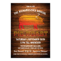 Pig Roast Invitations | Wood Branding