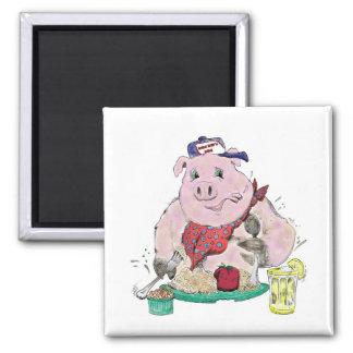 Pig Roast Fridge Magnet