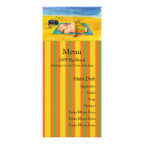 Pig Roast Menu Card