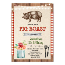 Pig roast party theme invitation