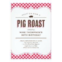 Pig Roast Table Cloth Invitations