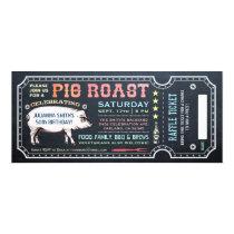 Pig Roast Ticket Invitations with Raffle Ticket v5