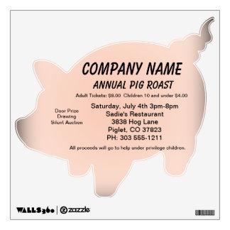 Pig Roast Word Advertisement Room Stickers
