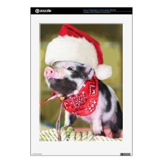 Pig santa claus - christmas pig - piglet PS3 skin