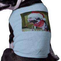 Pig santa claus - christmas pig - piglet shirt