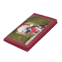 Pig santa claus - christmas pig - piglet tri-fold wallet