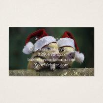 Pig santa claus - christmas pig - three pigs business card