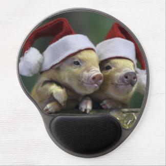Pig santa claus - christmas pig - three pigs gel mouse pad
