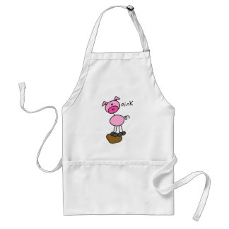 Pig Says Oink T-shirts and Gifts Adult Apron