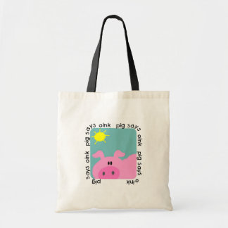 Pig Says Oink T-shirts and Gifts Budget Tote Bag