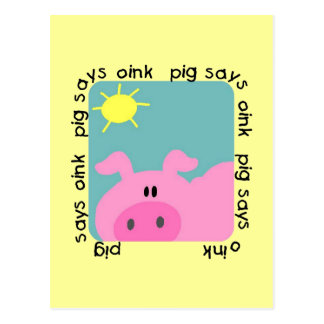 Pig Says Oink T-shirts and Gifts Postcard