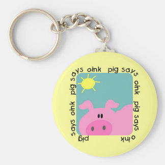 Pig Says Oink Tshirts and Gifts Keychain