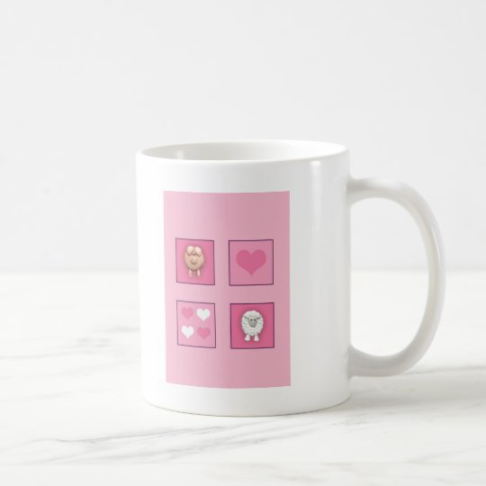 Pig & Sheep & Hearts Coffee Mug