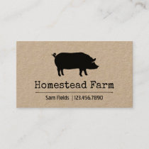 Pig Silhouette Business Card