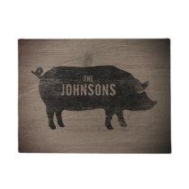 Pig Silhouette Custom Doormat