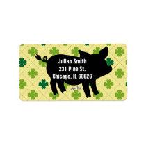 Pig Silhouette St. Patrick's Label