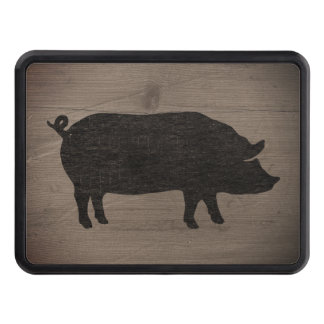 Pig Silhouette Tow Hitch Cover