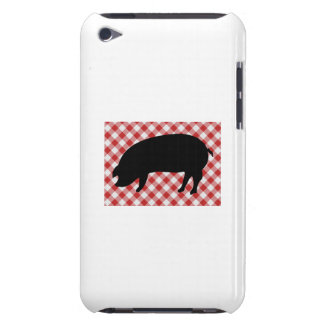 Pig Silo on Red and White Checkered Fabric iPod Touch Cover