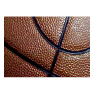 Pig skin basketball pattern with lines business card templates