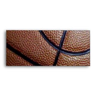 Pig skin basketball pattern with lines envelope
