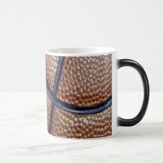 Pig skin basketball pattern with lines magic mug