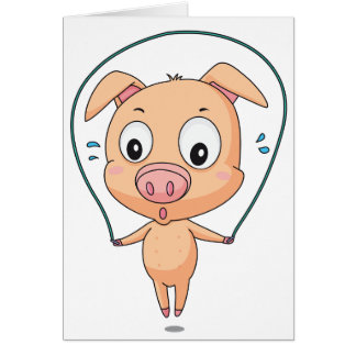 Pig Skipping Note Cards