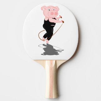 Pig Skipping Ping-Pong Paddle