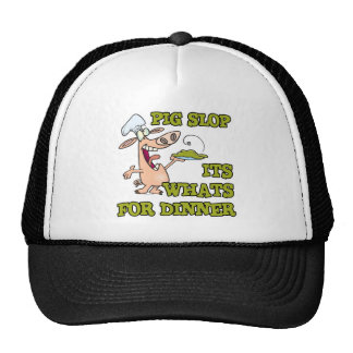 pig slop its whats for dinner funny cook cartoon mesh hat