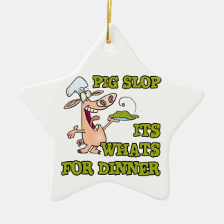 pig slop its whats for dinner funny cook cartoon ornaments