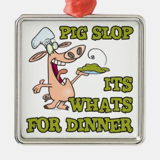 pig slop its whats for dinner funny cook cartoon christmas tree ornaments