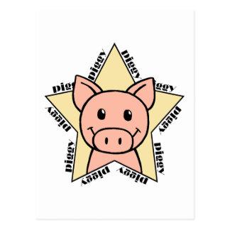Pig Star Postcard