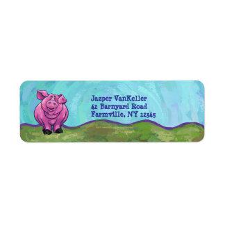 Pig Stationery Label